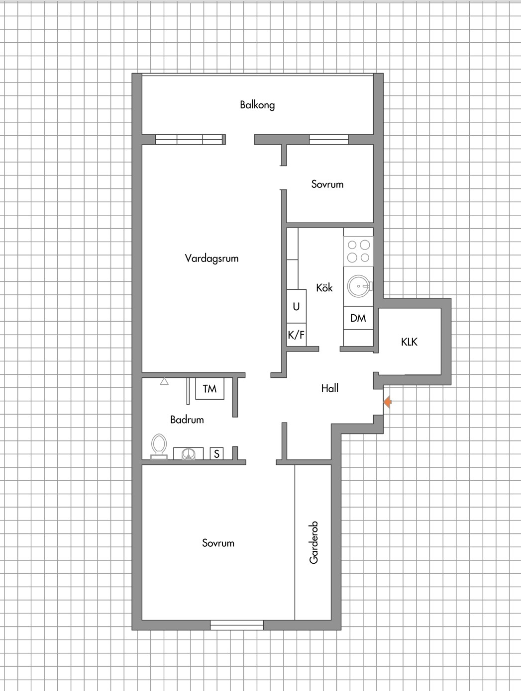 Perfekt planlösning – 12 kvm balkong – nära havet